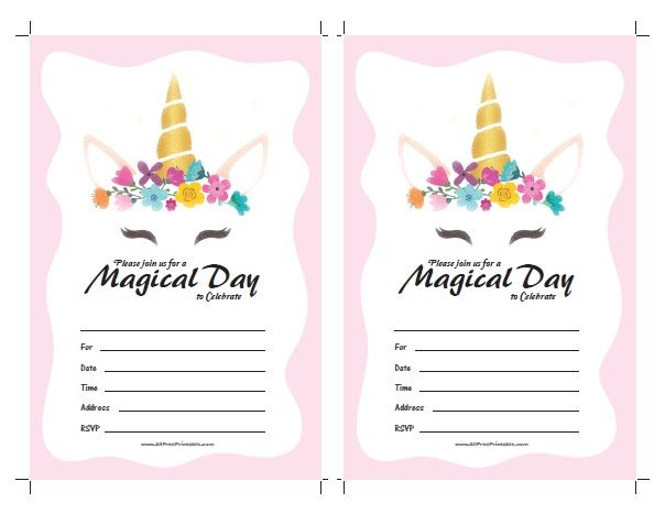 photo relating to Free Printable Unicorn Invitations called Free of charge Printable Unicorn Invites. Cost-free printable Unicorn
