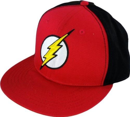 The Flash DC Comics Logo Flat Bill Hat Cap - http://forthatgeek.com/clothing-accessories/the-flash-dc-comics-logo-flat-bill-hat-cap/