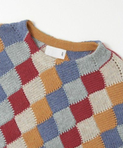 KBF(ケイビーエフ)の「KBF マルチカラーバスケット編みニット(ニット・セーター)」です。このアイテム着用のコーディネートをチェックすることもできます。