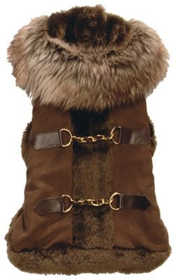 Aspen Faux Suede Dog Coat