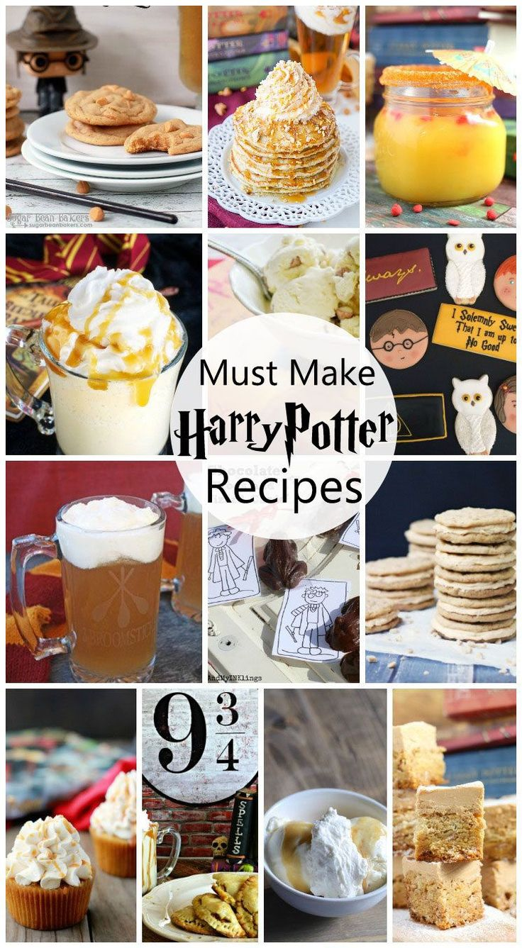 So many awesome Harry Potter food ideas. These recipes would be great for Harry Potter parties. So many fun Butterbeer ideas.                                                                                                                                                     More