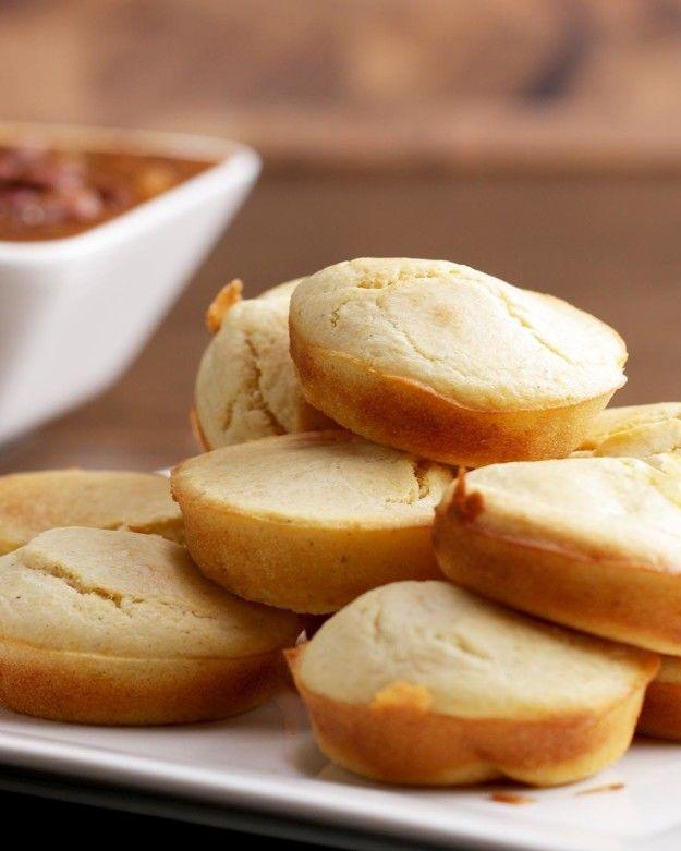 Mozzarella-Stuffed Cornbread Muffins | Mozzarella-Stuffed Cornbread Muffins