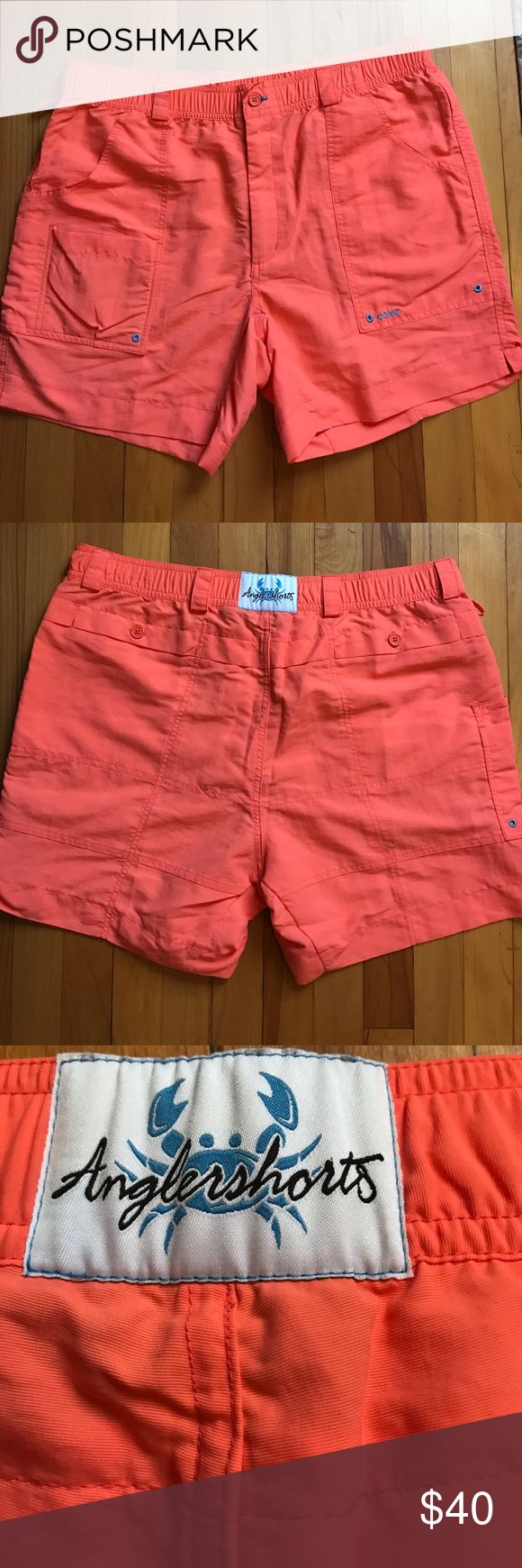 "Coast ""angler"" shorts new without tags! can be worn as bathing suit or regular shorts. bright orange color. Coast Shorts"