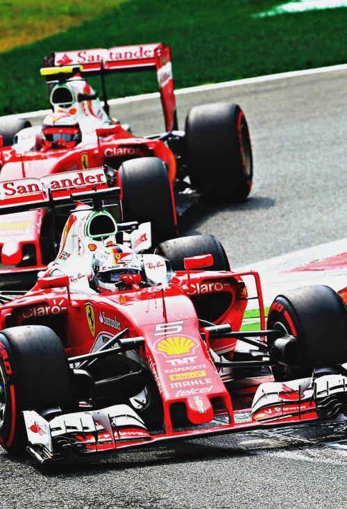 Sebastian Vettel ahead of Kimi Raikkonen l Italy 2016