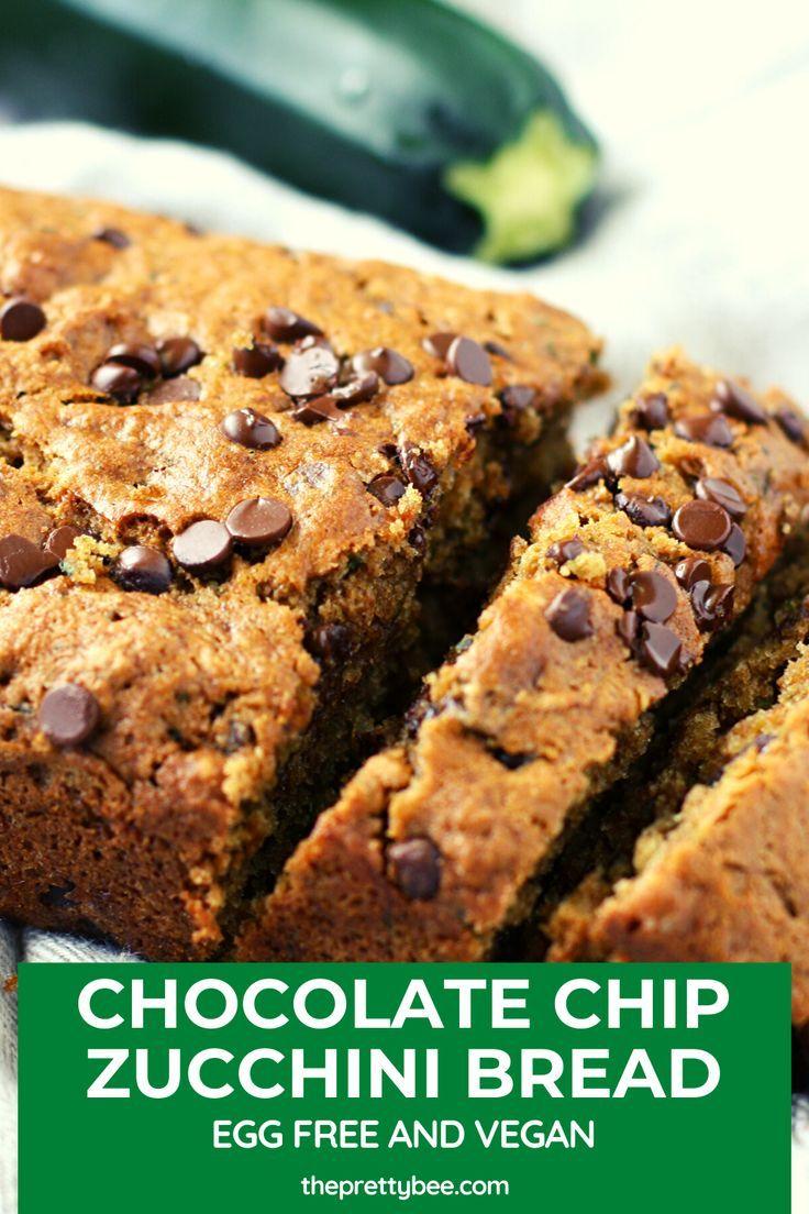 Vegan Chocolate Chip Zucchini Bread The Pretty Bee Recipe Chocolate Chip Zucchini Bread Clean Eating Desserts Zucchini Bread Recipes
