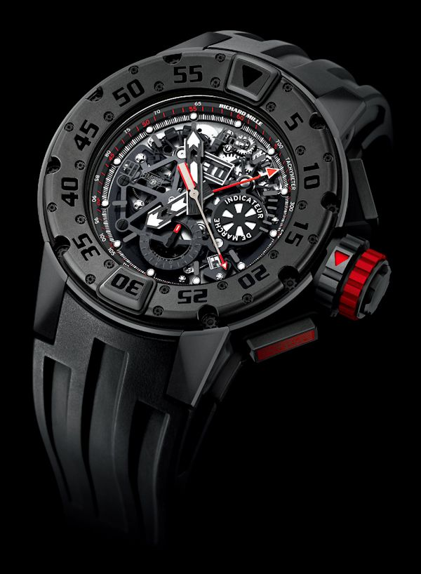 Richard Mille RM032 Dark Diver Chronograph Watch   richard mille