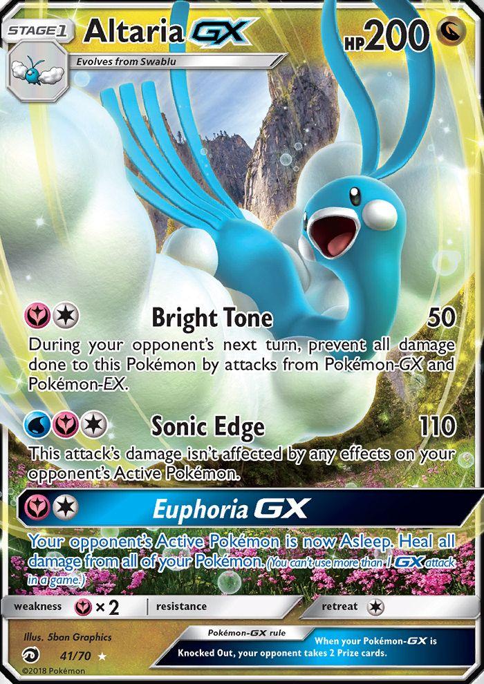Altaria Gx Dragon Majesty Drm 41 Pokemon Cards Charizard