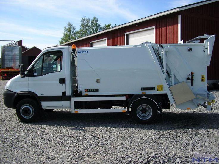 NTM KMini KMidi mała zabudowa śmieciarki na podwoziu IVECO DAILY 7t DMC, small refuse truck, klein Kommunalfahrzeuge, Benne a ordures, Recolectores, piccoli camion, smidiga renhållningsbil