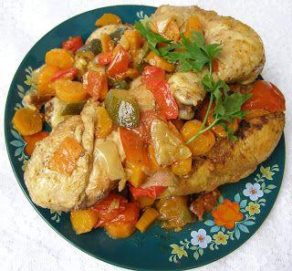 W Mojej Kuchni Lubię.. : duszony w warzywach kurczak z przyprawą do ziemnia...