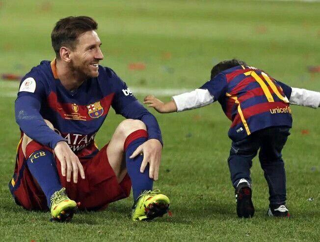 Leo Messi con Thiago