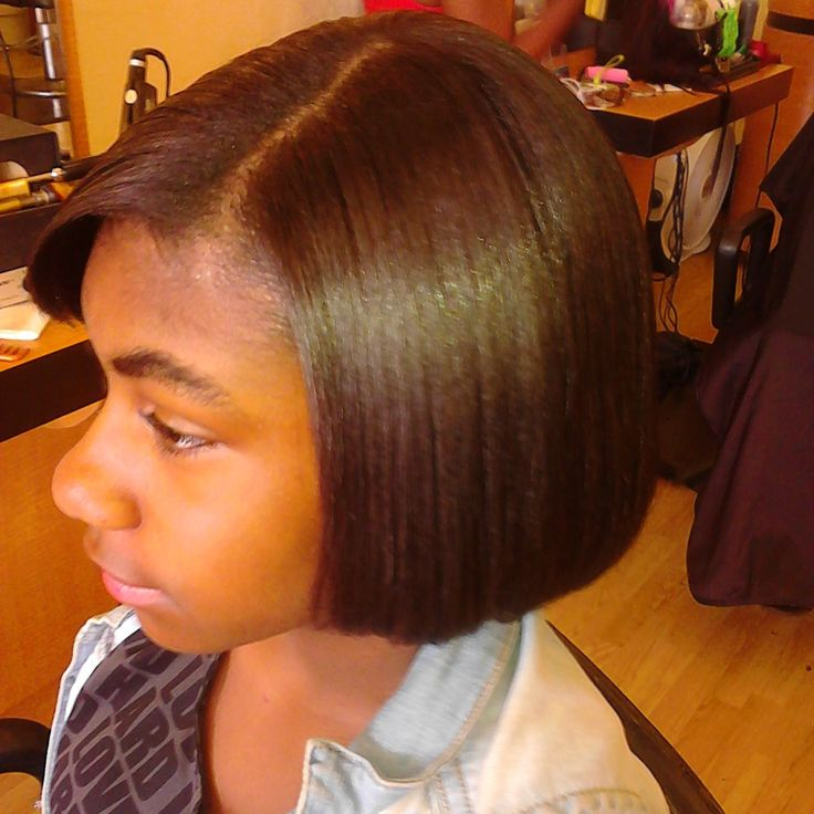 little girls press and flat iron African American Hair
