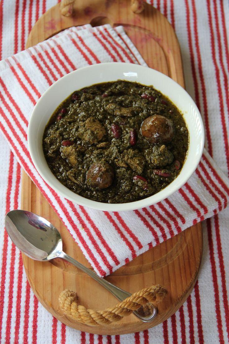 My Persian Feast: Ghormeh-Sabzi - Persian Herb Stew - قورمه سبزی