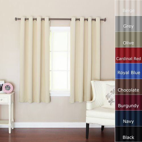 "Best Home Fashion Beige Grommet Top Thermal Insulated Blackout Curtain 52"" W X 63"" L 1 Pair - GT Best Home Fashion http://www.amazon.com/dp/B003S6O7A2/ref=cm_sw_r_pi_dp_HSRSub1RJJZ4G"