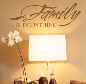 Family is Everything wall decal vinyl lettering home decor discount stickers