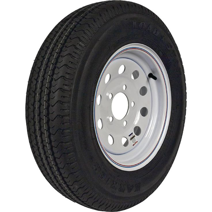 ST225/75R-15 KR03 Radial 2540 lb. Load Capacity White with Stripe 15 in. Bias Trailer Tire and Wheel Assembly