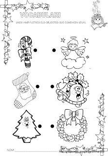 Educació Infantil Brimar: Fitxes de vocabulari del Nadal