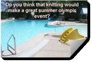 10. Summer Game or Sport: Knitting poolside!!