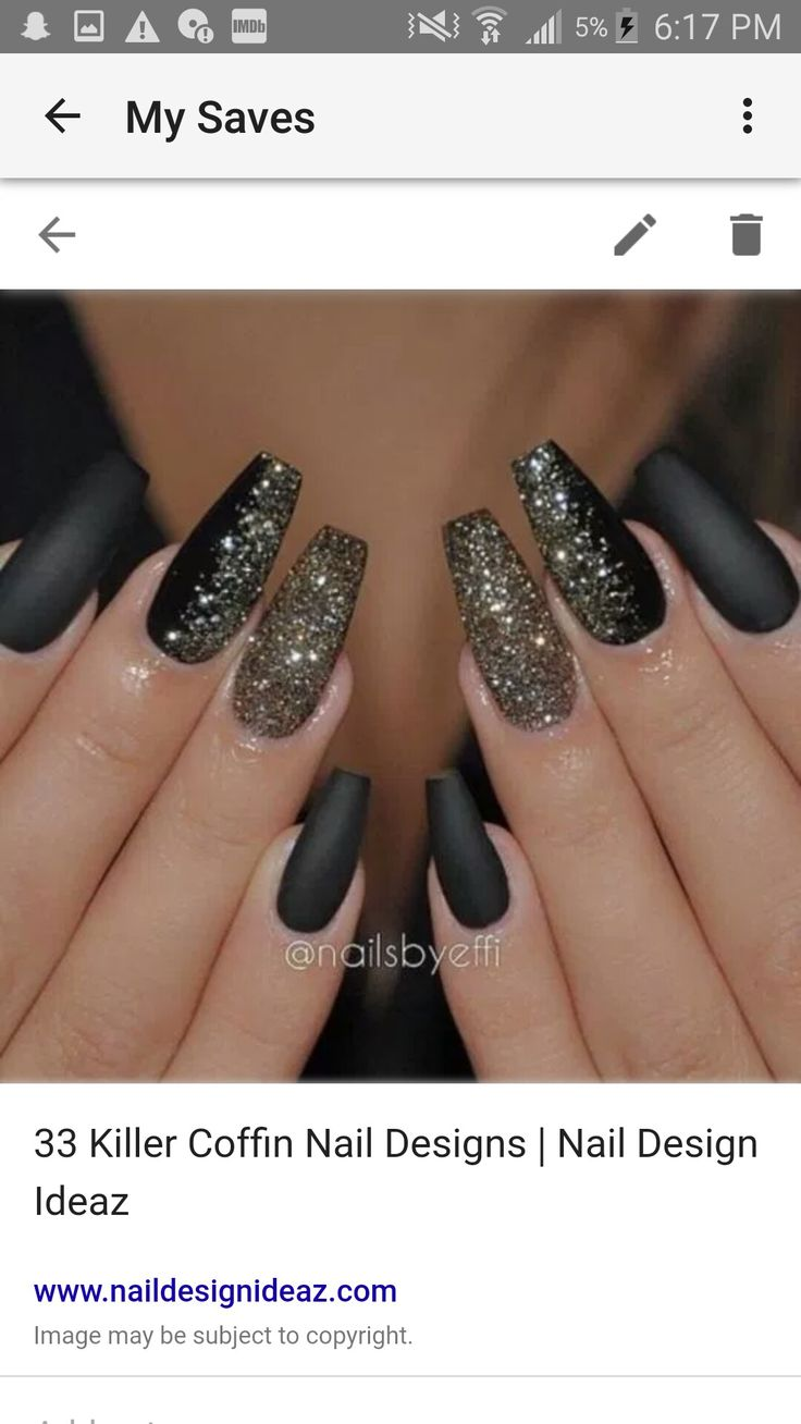13 best prom nails images on Pinterest | Black, Black nails and Clothes