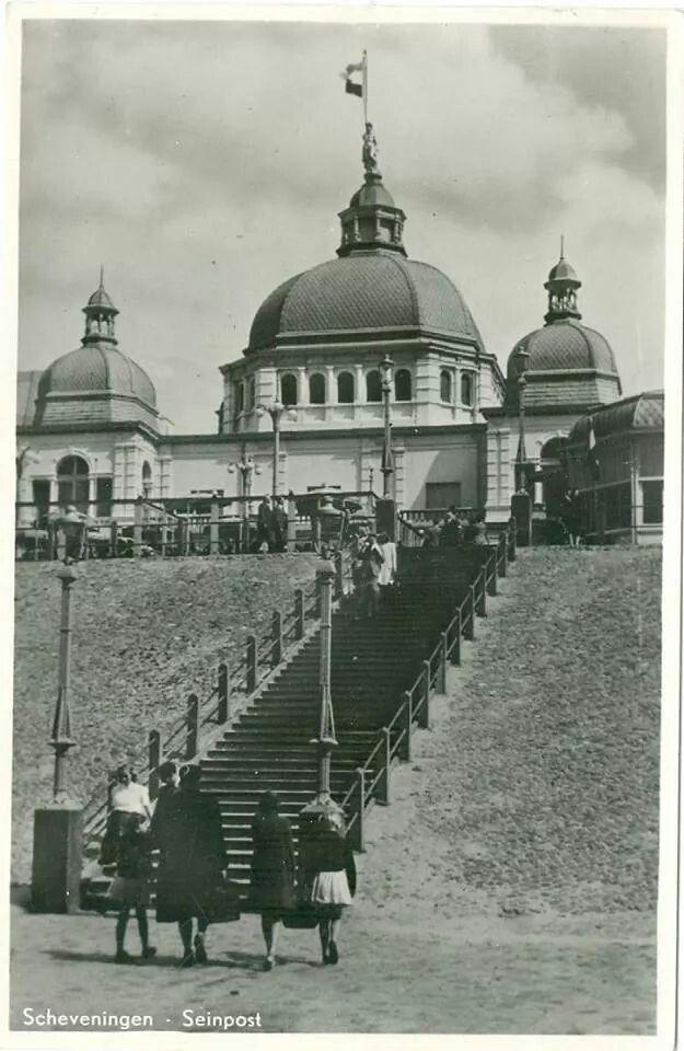 Scheveningen Seinpost. Jaar 1954. Via Con van der Ham.