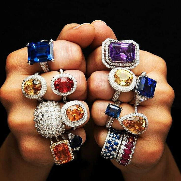 @the_jewell_closet - Stunning Diamond ,Yellow sapphires, Blue sapphire ,Tanzanites and ruby Rings.