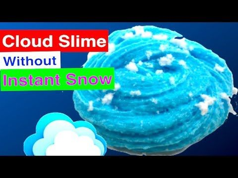 How To Make Cloud slime Without Fake Instant Snow!! Instagram Ice Slime  Tutorial - YouTube 9a0d2cd97