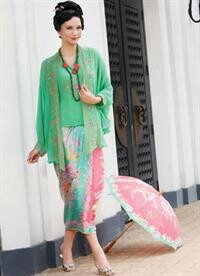 Kebaya Encim #kebaya pastel pink-light green