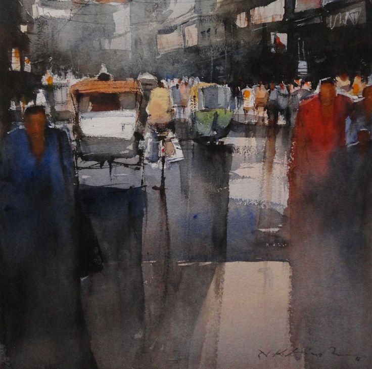 contemporary watercolor paintings