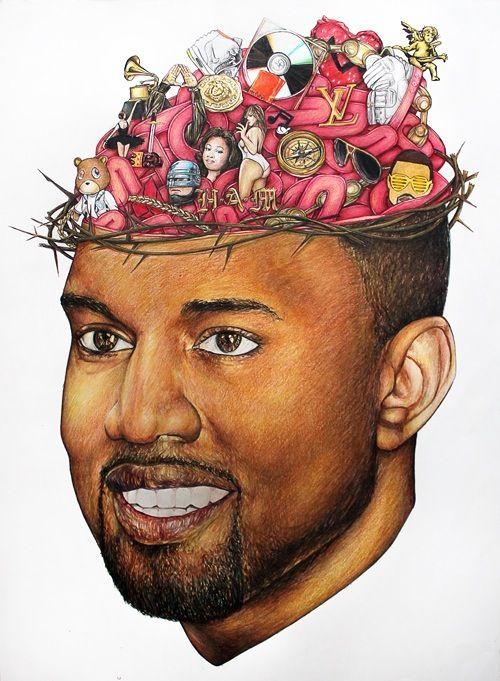 Kanye West Floating Head
