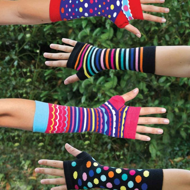 Brightly Coloured Arm Warmers