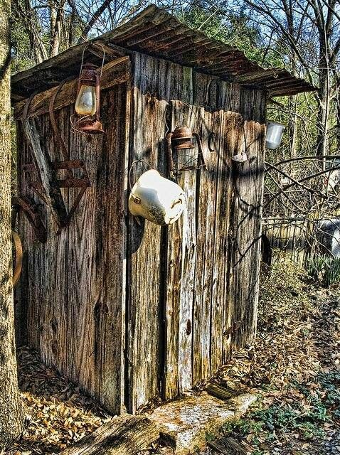 Outhouses old barns pinterest for Outhouse pictures