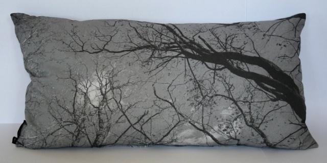 Dreamweaver cushion - greyscale.