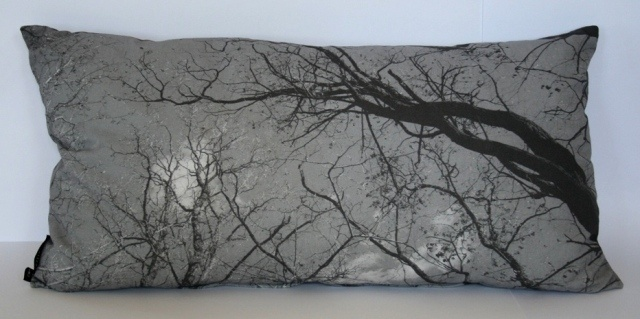 Dreamweaver cushion - greyscale.