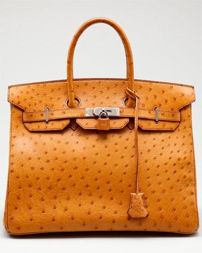 Birkin...: 35Cm Phw, Hermes Bags, Birkin Bags, Ostrich Birkin, Handbags, Hermes Cognac, Bags Lady, Cognac Ostrich, Birkin 35Cm