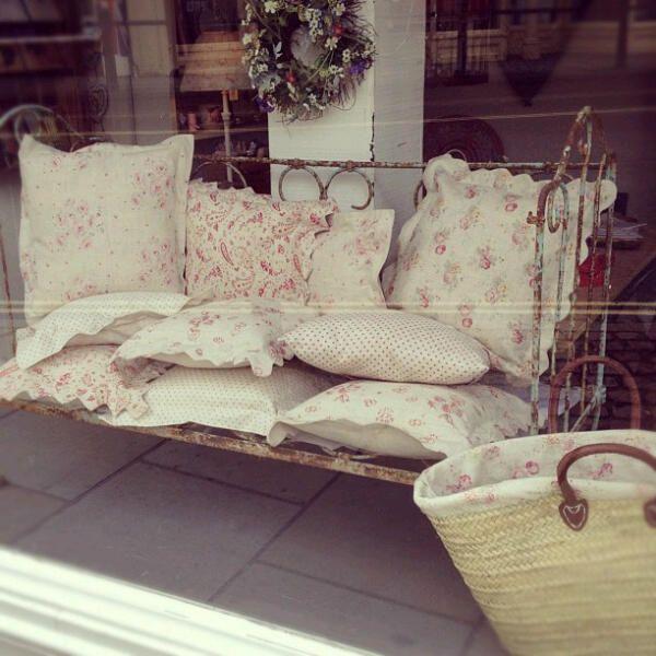 Peony & Sage Cushions in The Corner House Dorking
