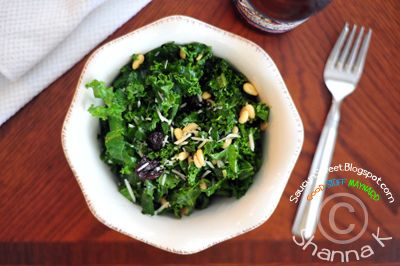 Kale Salad - with pine nuts and cherries | Yummy, Healthy Food | Pint ...