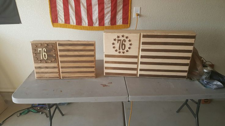 Fort Huachuca Military Base Wooden American Flag