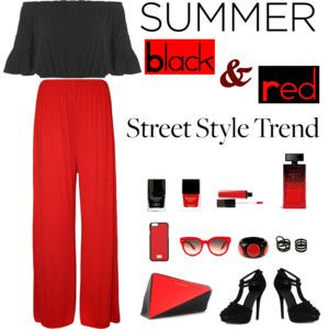 Black and red for summer