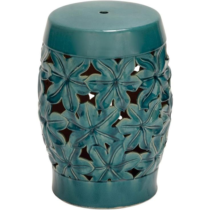 Ceramic Aqua Stool, or As A Side Table.