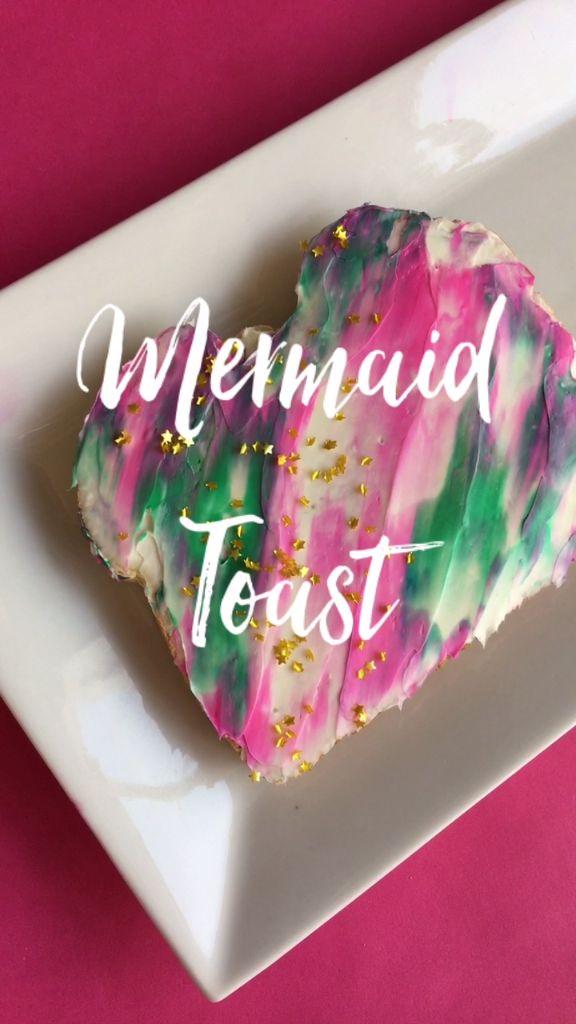 Pink Green Mermaid Toast