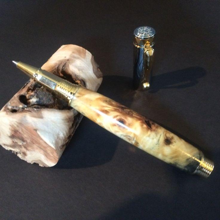 Buckeye Burl Electra Rollerball Pen by JackalopeWoodworks on Etsy