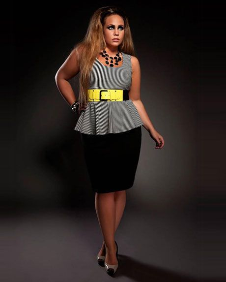 City Chic - Sexy Stripes & Kryptonite - Women's plus size fashion