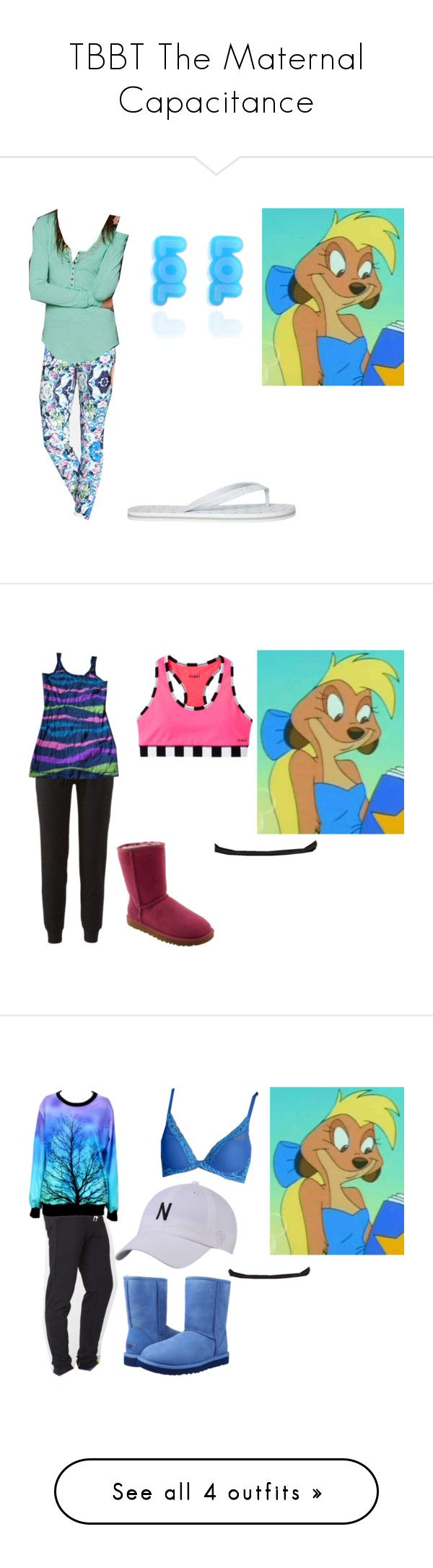 """""""TBBT The Maternal Capacitance"""" by brainyxbat ❤ liked on Polyvore featuring 7 For All Mankind, Free People, Lacoste, Punky Pins, Juicy Couture, UGG Australia, Natori, Bebe and Old Navy"""