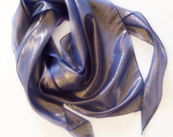 Denim blue silk scarf, Amethyst gift Holiday Gift, Bridesmaid gift, Gift For Wife, Birthday present, Office exchange gift, Scarf under 20 by blingscarves. Explore more products on http://blingscarves.etsy.com
