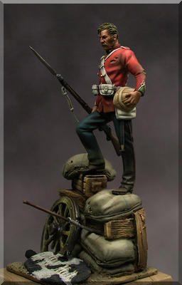 Survivor from Rorkes Drift, 54mm Miniature.