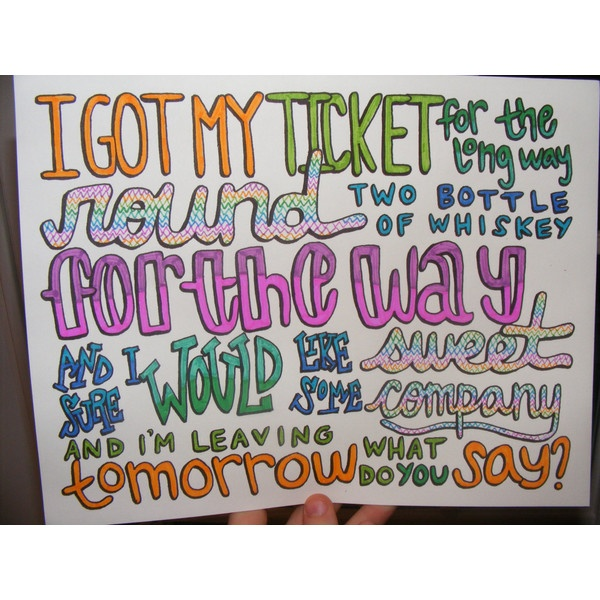 Cups Lyric Drawing ($7) ❤ liked on Polyvore... Sam's favorite song right now!