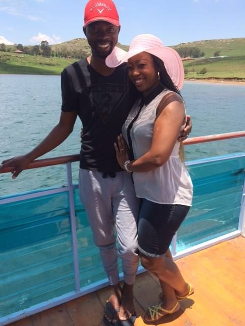 Palesa and her husband spending the weekend at Qwantani.