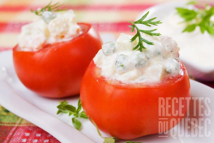 Tomates cocktail farcies #recettesduqc #bouchees