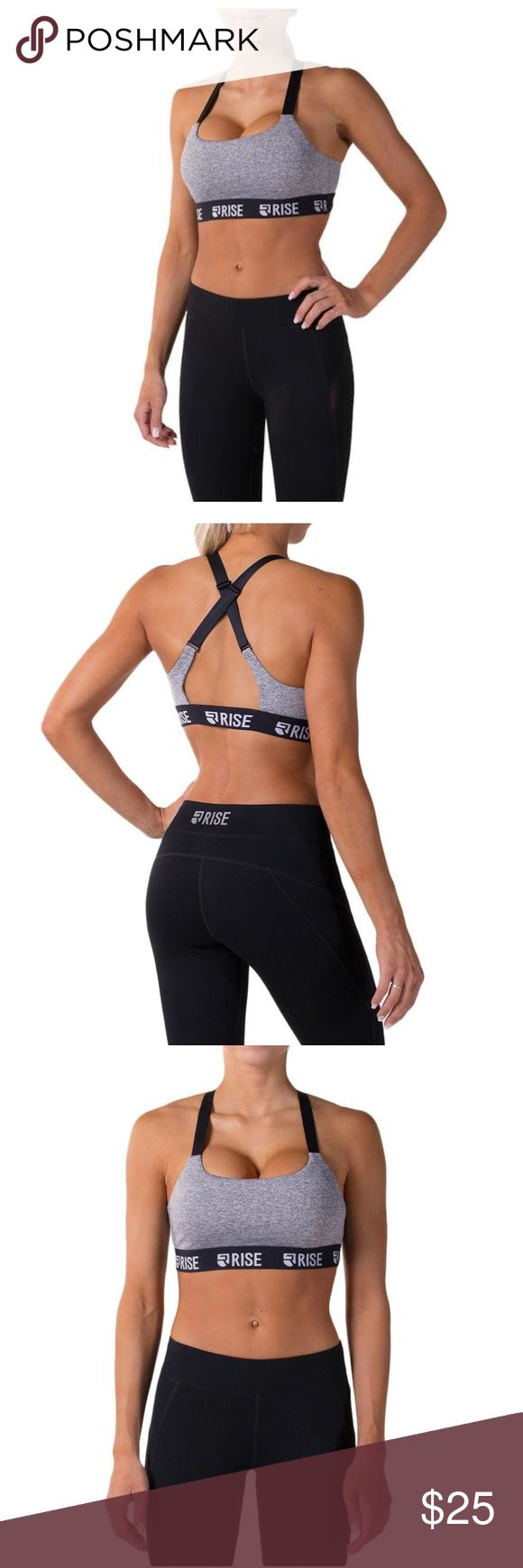 Motion Sports Bra by Rise With an adjustable, crossed strap design, we would classify this as medium, to high support. Perfect for looking trendy with confidence during midday jogs.  Note: all pads on our sports bras are removable for easy cleaning.  Fabric: The White/Grey, Black/Black versions of this garment are 90% polyester, 10% spandex.  The Grey/Mint, Grey/Black versions of this garment are 60% cotton, 35% polyamide, 5% spandex. Fabletics Intimates & Sleepwear Bras
