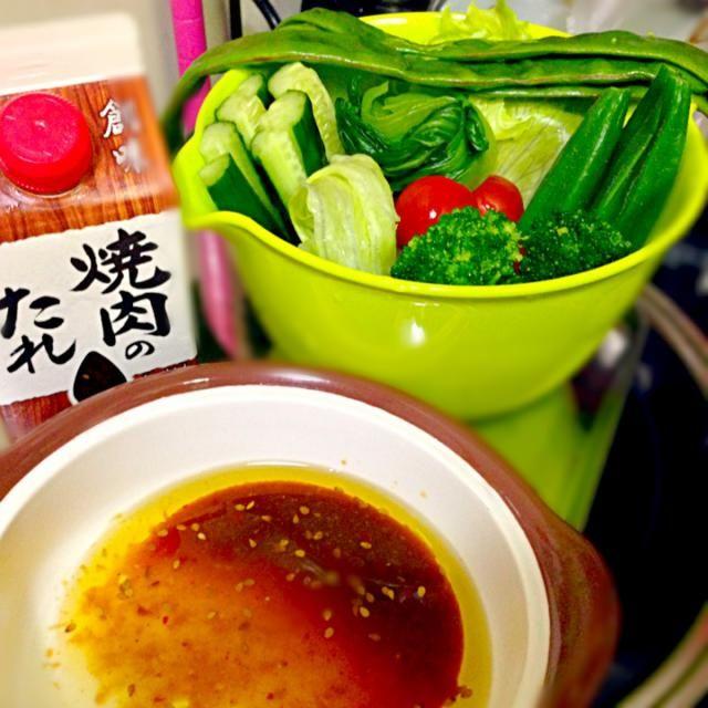 創味焼き肉タレとオリーブオイルで簡単なバーニャカウダーに大変身♪( ´▽`) - 14件のもぐもぐ - バーニャカウダー♪( ´▽`) by qpchan