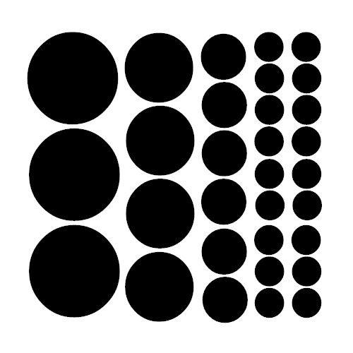 Väggdekor med grafiska cirklar